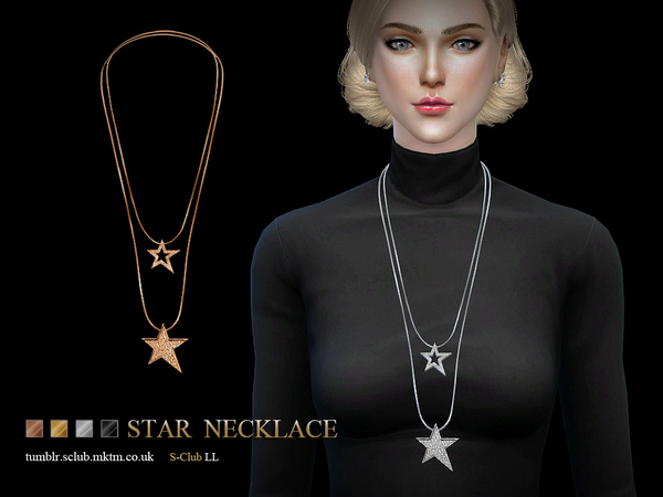 Necklace N05 by S Club LL at TSR image 1440 Sims 4 Updates