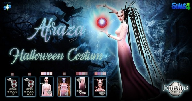 AFRAZA halloween complet costum at Jomsims Creations image 14415 670x355 Sims 4 Updates