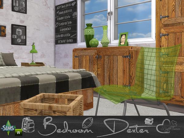Bedroom Dexter by BuffSumm at TSR image 1448 Sims 4 Updates