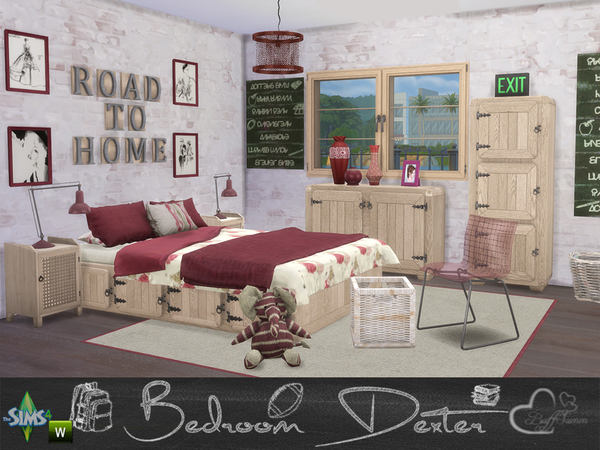 Bedroom Dexter by BuffSumm at TSR image 1458 Sims 4 Updates