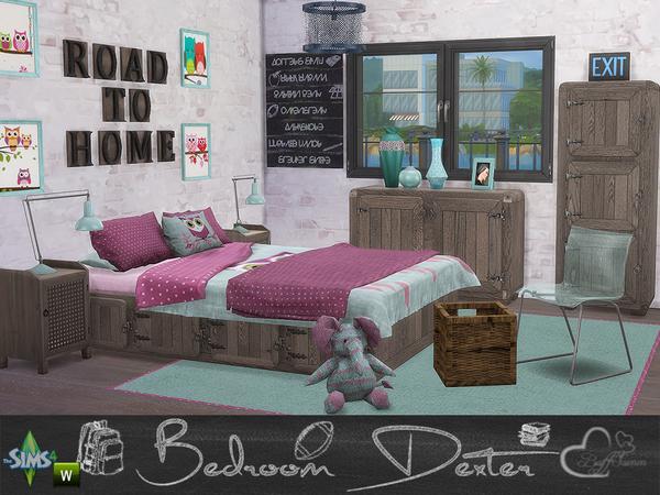 Bedroom Dexter by BuffSumm at TSR image 1478 Sims 4 Updates