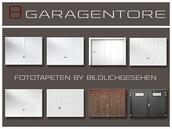 Garage door wallpapers by bildlichgesehen at akisima for Sims 4 garage