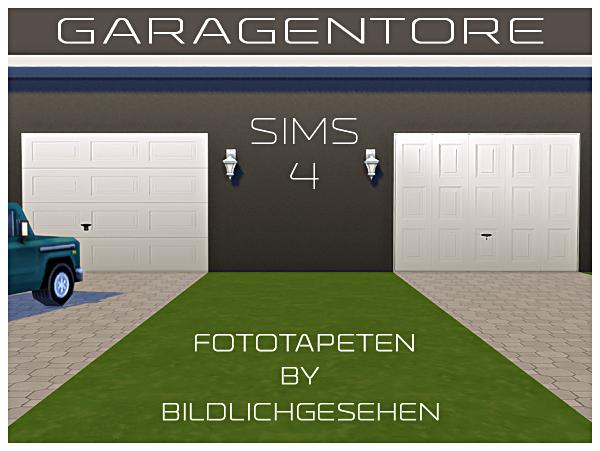 Garage Door Wallpapers By Bildlichgesehen At Akisima Sims 4 Updates