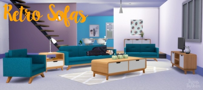 Clean Retro Sofa Set At Thingsbydean 187 Sims 4 Updates
