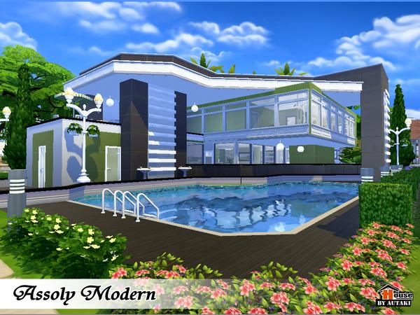 Assoly modern house by autaki at tsr sims 4 updates for Sims 4 modelli di casa moderna