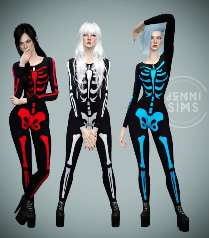Sims 4 Skeleton body at Jenni Sims