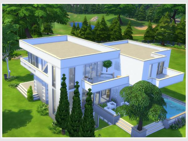 Sims 4 Dukkha (No CC) house by philo at TSR