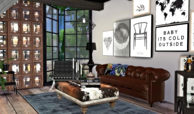 City Living Room Interior At Hvikis 187 Sims 4 Updates