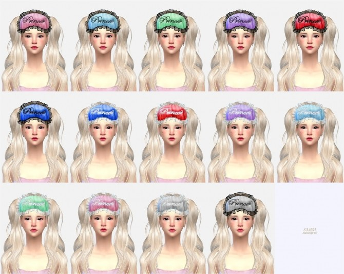 Female Sleep Eye Mask At Marigold 187 Sims 4 Updates