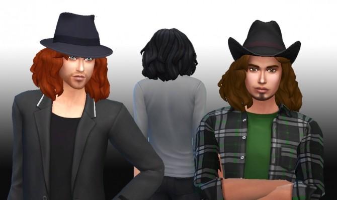 Sims 4 Medium Messy hair for males at My Stuff