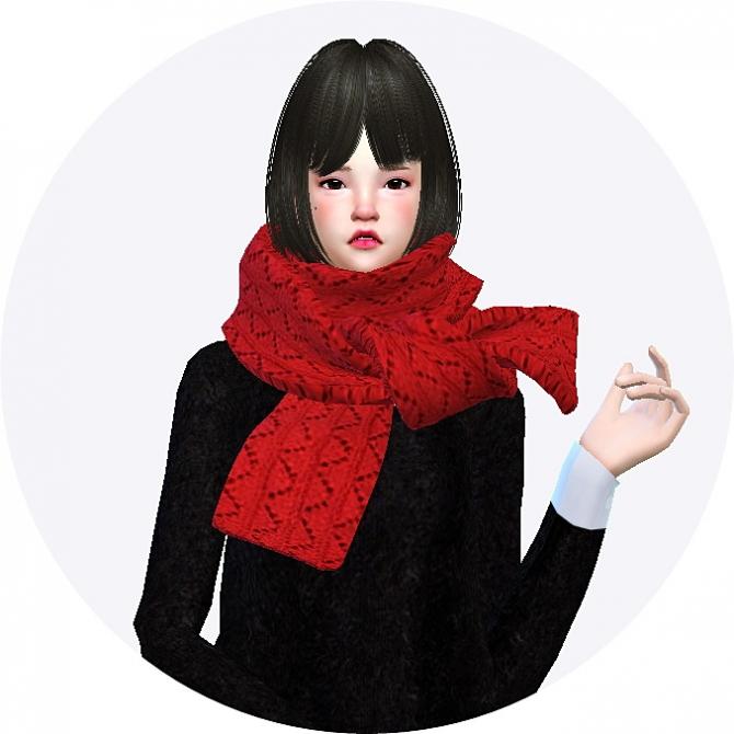 Knit Scarf At Marigold 187 Sims 4 Updates