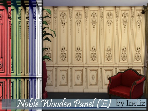 Sims 4 Noble Wooden Panel (E) by Ineliz at TSR