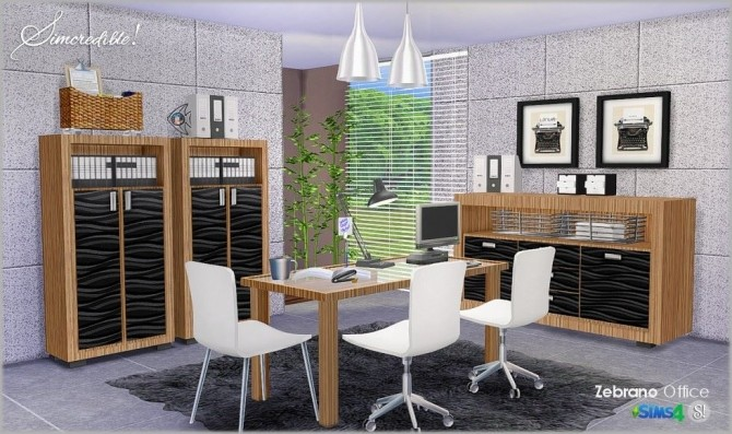 Zebrano Office at SIMcredible! Designs 4 image 1569 670x397 Sims 4 Updates