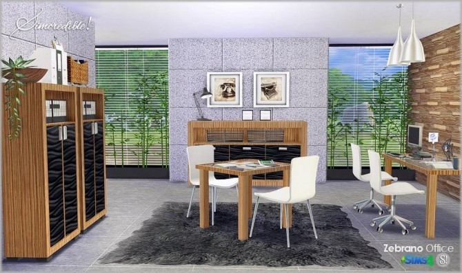 Zebrano Office at SIMcredible! Designs 4 image 1589 670x397 Sims 4 Updates