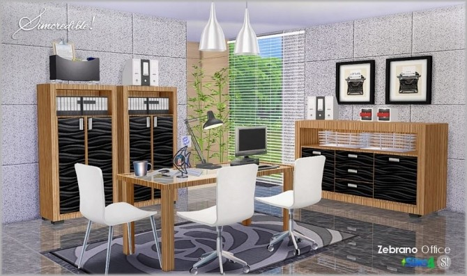 Zebrano Office at SIMcredible! Designs 4 image 1599 670x397 Sims 4 Updates