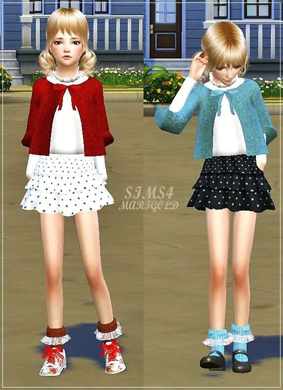 Sims 4 Child lovely frill socks (ankle) at Marigold
