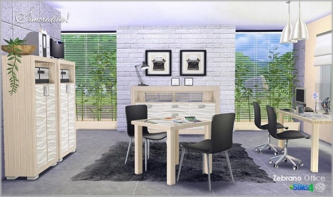 Zebrano Office at SIMcredible! Designs 4 image 1609 670x397 Sims 4 Updates