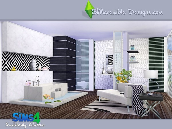 Suddenly Classic Bathroom By Simcredible At Tsr 187 Sims 4