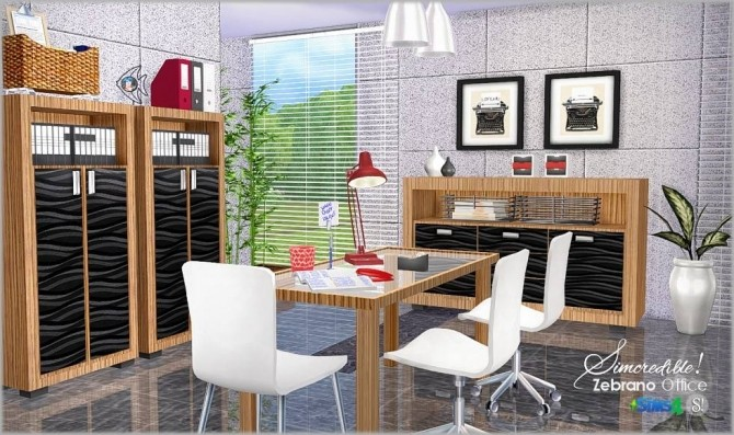 Zebrano Office at SIMcredible! Designs 4 image 16115 670x397 Sims 4 Updates