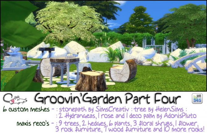 Groovin Garden Part 4 At Loverat Sims4 187 Sims 4 Updates