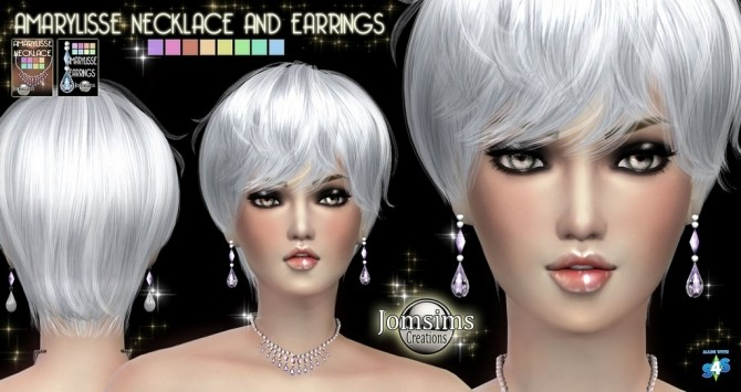 Sims 4 Earrings and necklace at Jomsims Creations