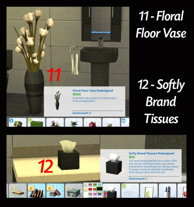 Redesigned With Style 12 Bathroom Item Recolours by Simmiller at Mod The Sims image 1657 670x714 Sims 4 Updates