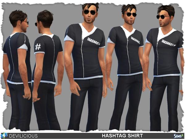 Sims 4 HashTag Shirt by Devilicious at TSR
