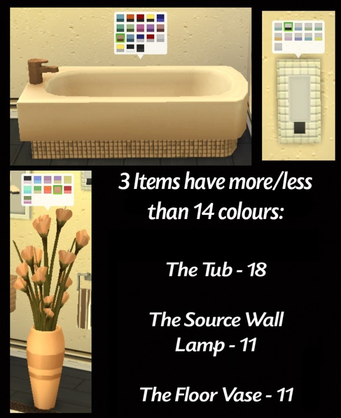 Redesigned With Style 12 Bathroom Item Recolours by Simmiller at Mod The Sims image 1668 670x821 Sims 4 Updates