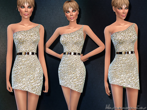Swank Sequin embellished dress by Harmonia at TSR image 1670 Sims 4 Updates