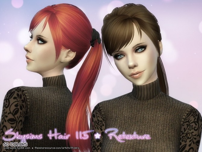 Sims 4 Skysims Hair 115 Retexture at Aveira Sims 4