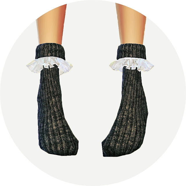 Sims 4 LKovely frill socks (ankle) at Marigold