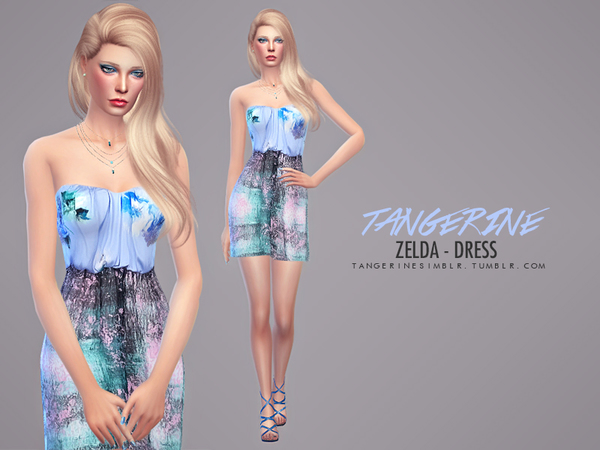 Zelda dress by tangerine at Sims Fans image 16811 Sims 4 Updates