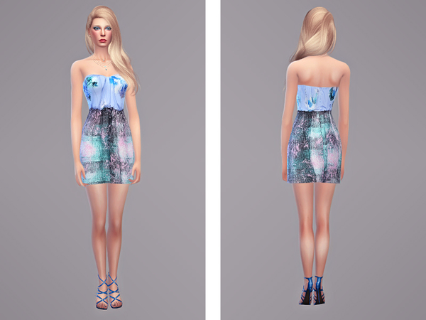 Zelda dress by tangerine at Sims Fans image 1699 Sims 4 Updates