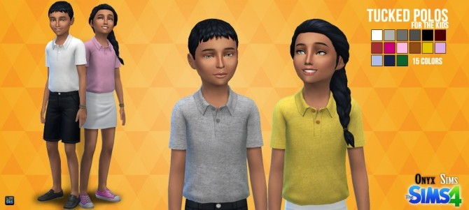 Tucked Polos for Kids at Onyx Sims image 17015 670x301 Sims 4 Updates