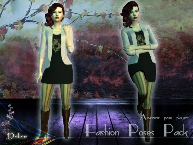 Fashion poses pack by Delise at Sims Artists image 17121 670x503 Sims 4 Updates
