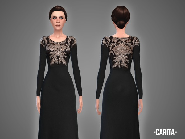 Carita gown by April at TSR image 1718 Sims 4 Updates