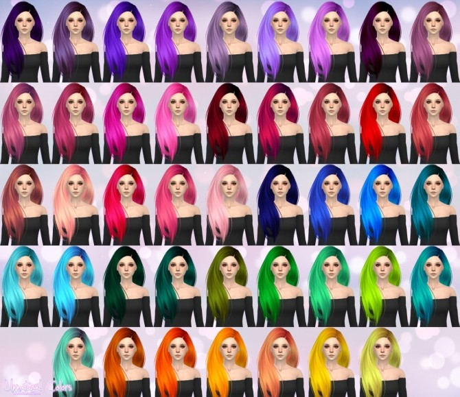 Skysims Hair 274 retexture at Aveira Sims 4 image 17216 670x579 Sims 4 Updates