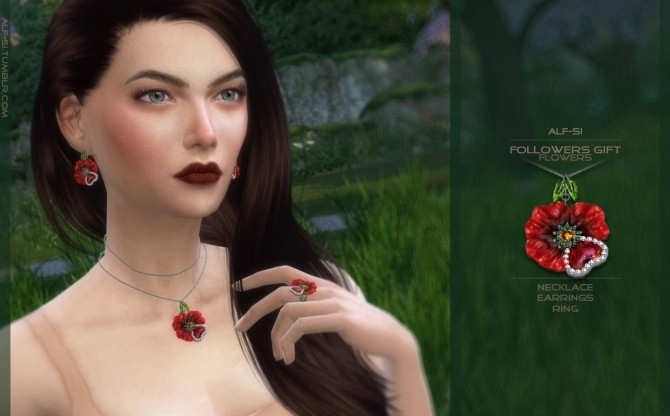 Sims 4 Flowers (part 3) jewellery set at Alf si