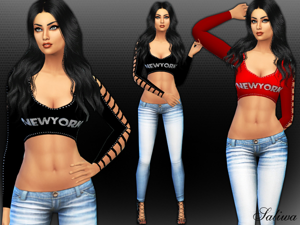 New York Dream Outfit by Saliwa at TSR image 1740 Sims 4 Updates