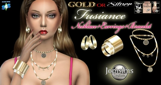 FUSIANCE SET bracelet + earrings + necklace at Jomsims Creations image 1748 670x355 Sims 4 Updates