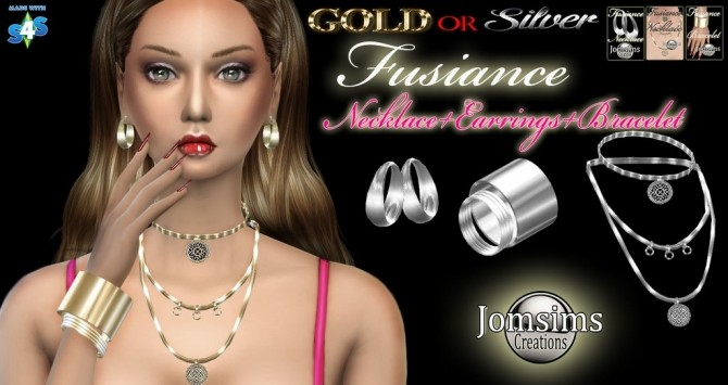 FUSIANCE SET bracelet + earrings + necklace at Jomsims Creations image 17571 670x355 Sims 4 Updates