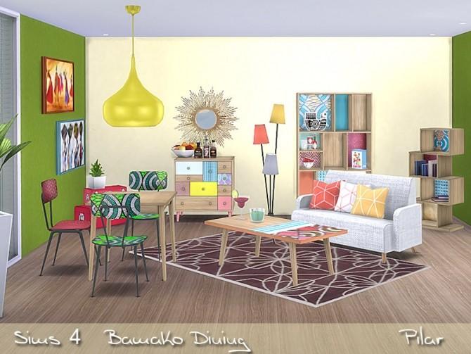 Sims 4 Bamako dining by Pilar at SimControl