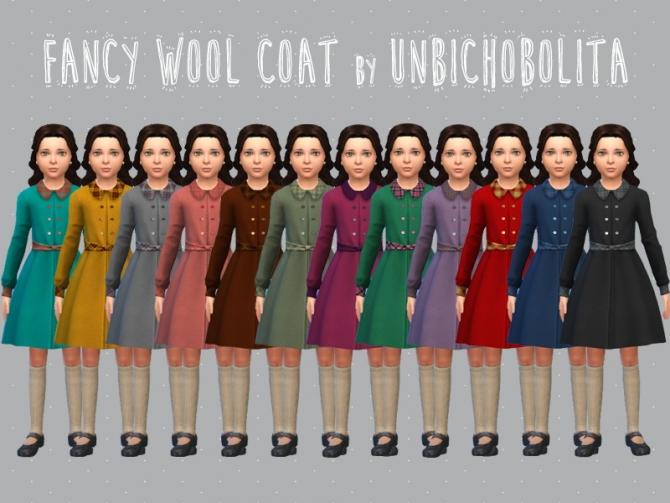 Fancy Classic Wool Coat At Un Bichobolita Sims 4 Updates