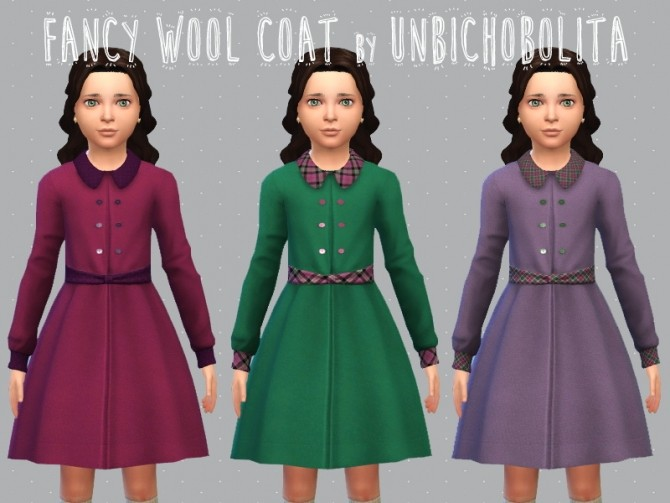 Sims 4 Fancy classic wool coat at Un bichobolita