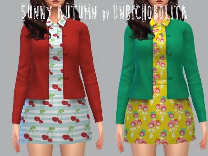 Sims 4 Sunny autumn dress at Un bichobolita