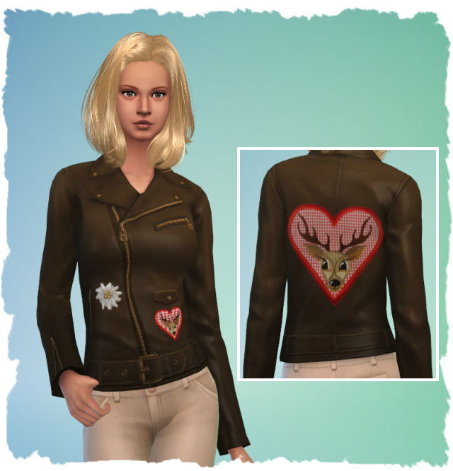 Sims 4 4 (F) leather jackets by Chalipo at All 4 Sims