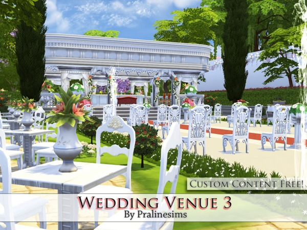 Wedding Venue 3 By Pralinesims At TSR » Sims 4 Updates