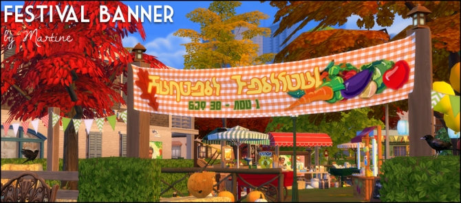 Festival Banner At Martine S Simblr 187 Sims 4 Updates