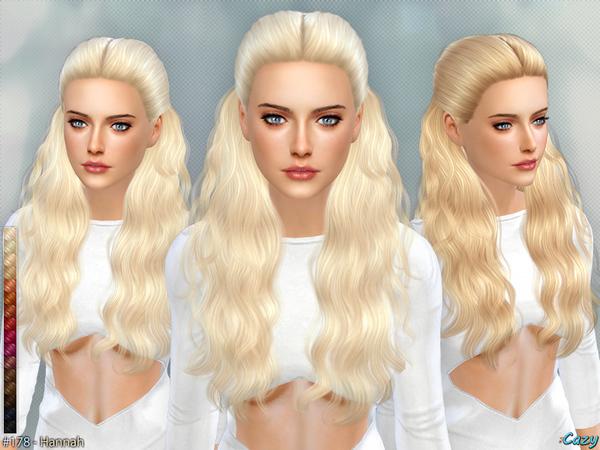 Sims 4 Hannah female hair by Cazy at TSR