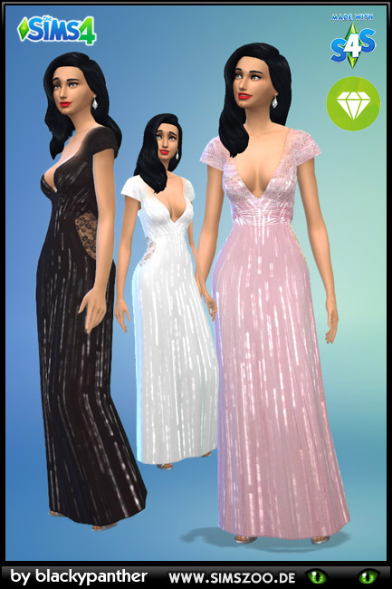 Sims 4 Evening Dress 47 by blackypanther at Blacky's Sims Zoo